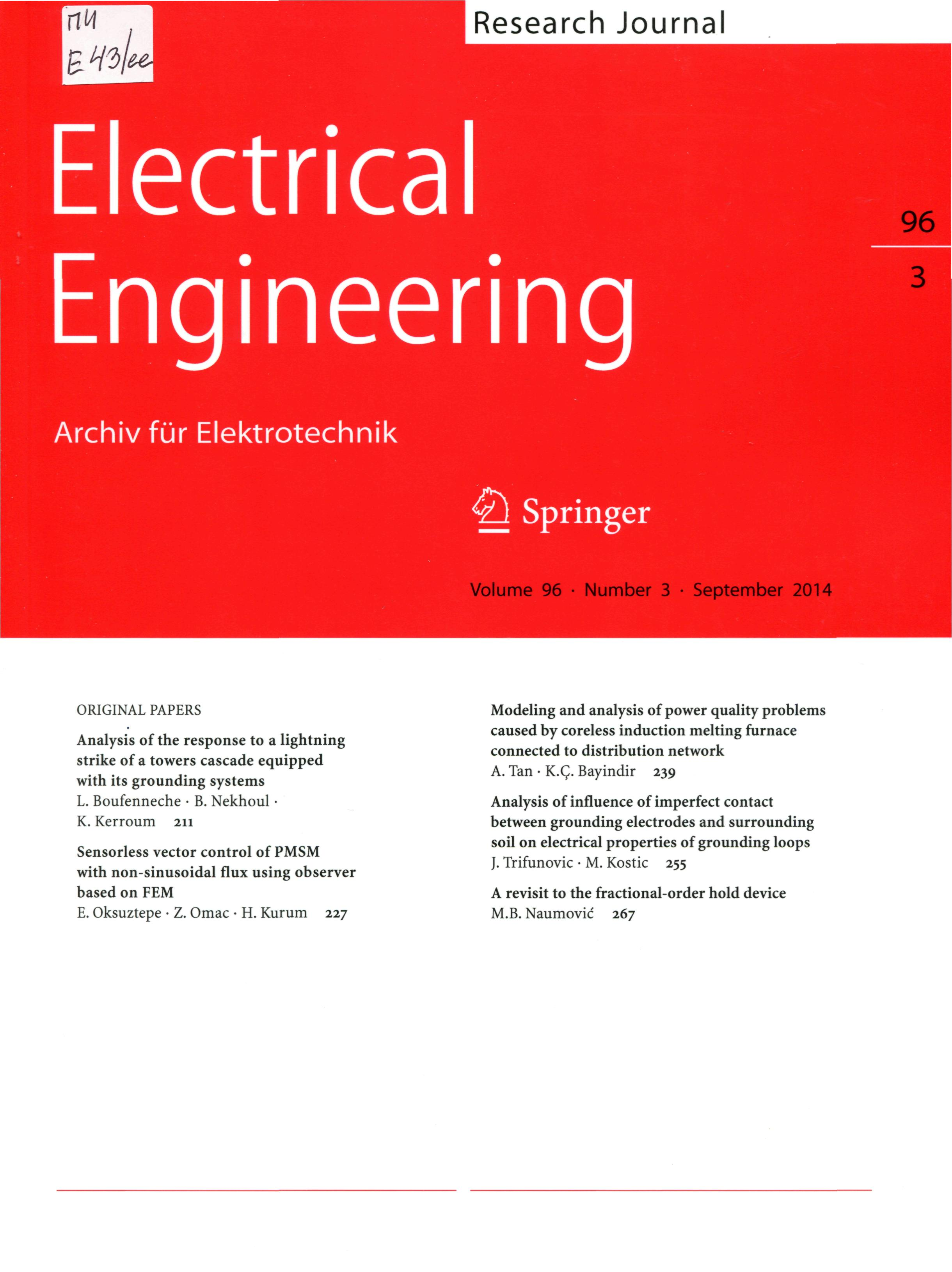 research paper for electrical engineering Protection devices for electrical machines & control research paper in this paper i will discuss the history of electrical engineering.