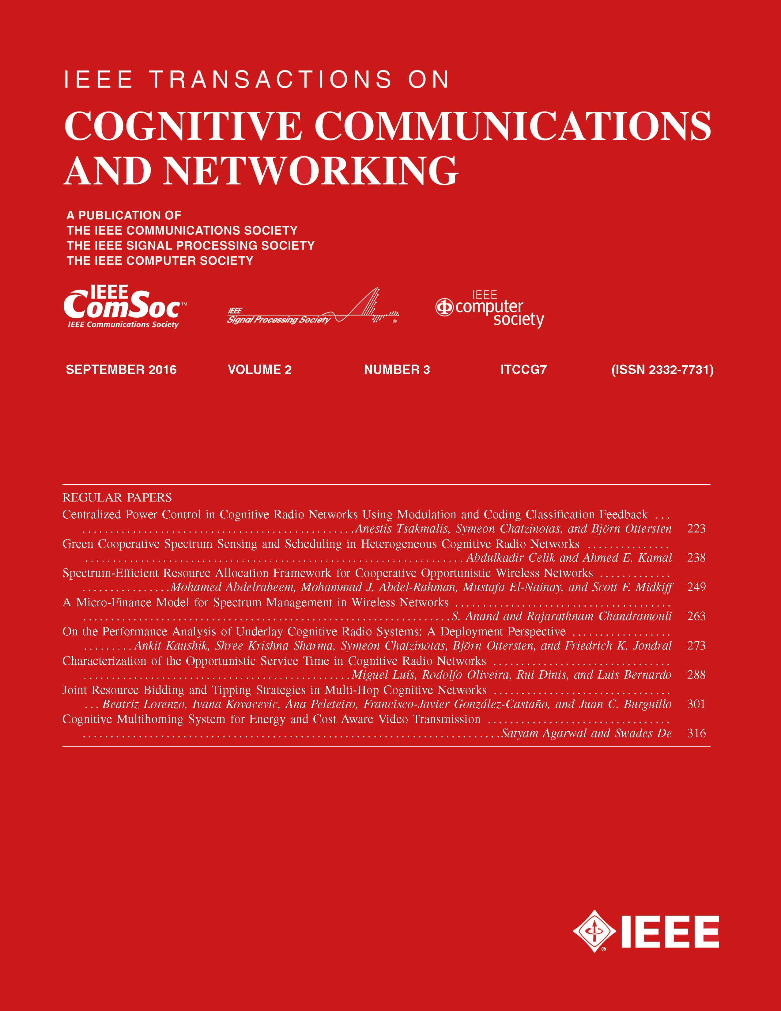 cognitive radio research paper