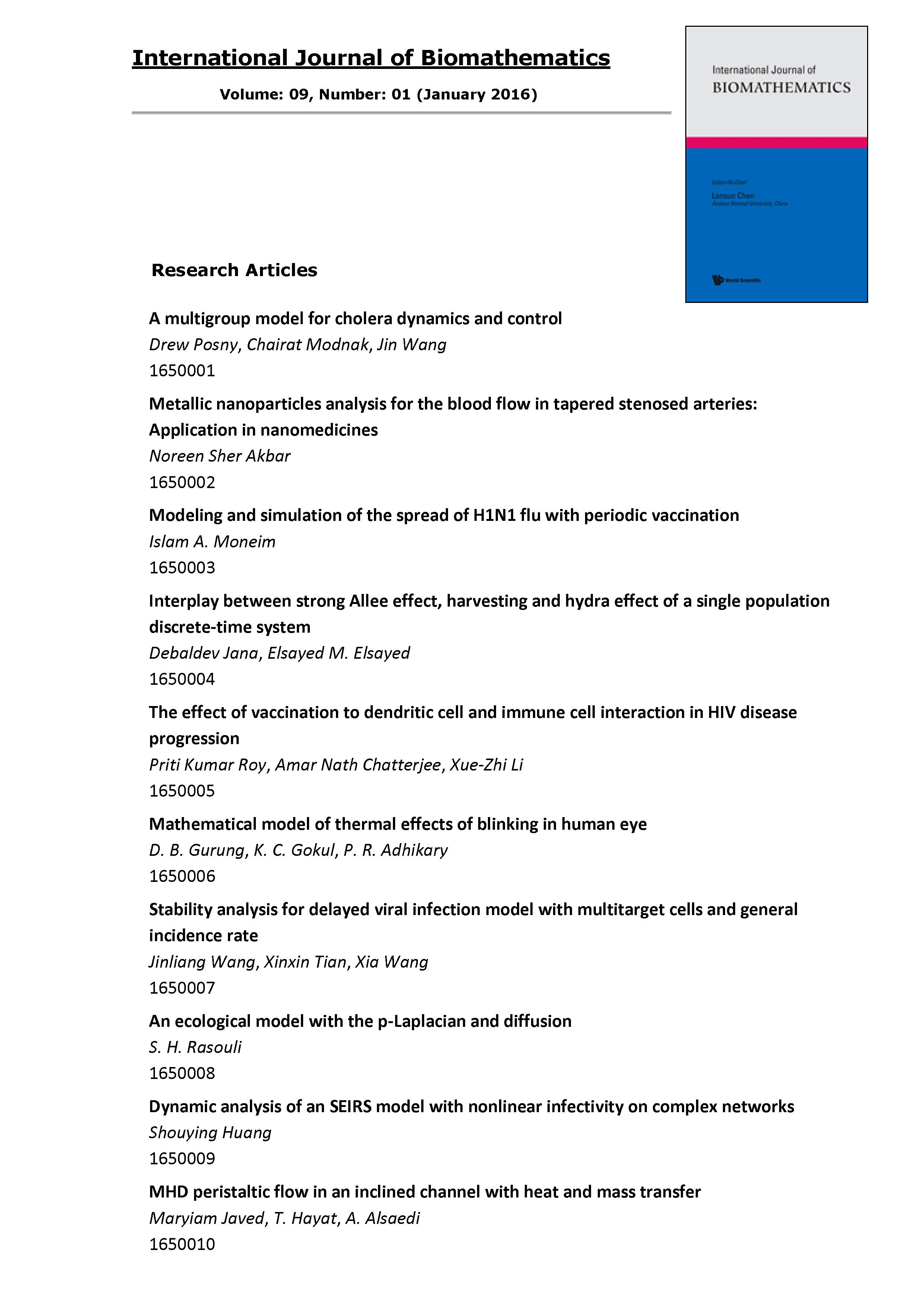 biomathematics research papers Some of these career fields include teaching (although not so high paying, this career has an extremely large growth rate and great job satisfaction), finance, actuarial science, cryptography, computer science, biomathematics, operations research, mathematical biology, state or government work, or researcher.