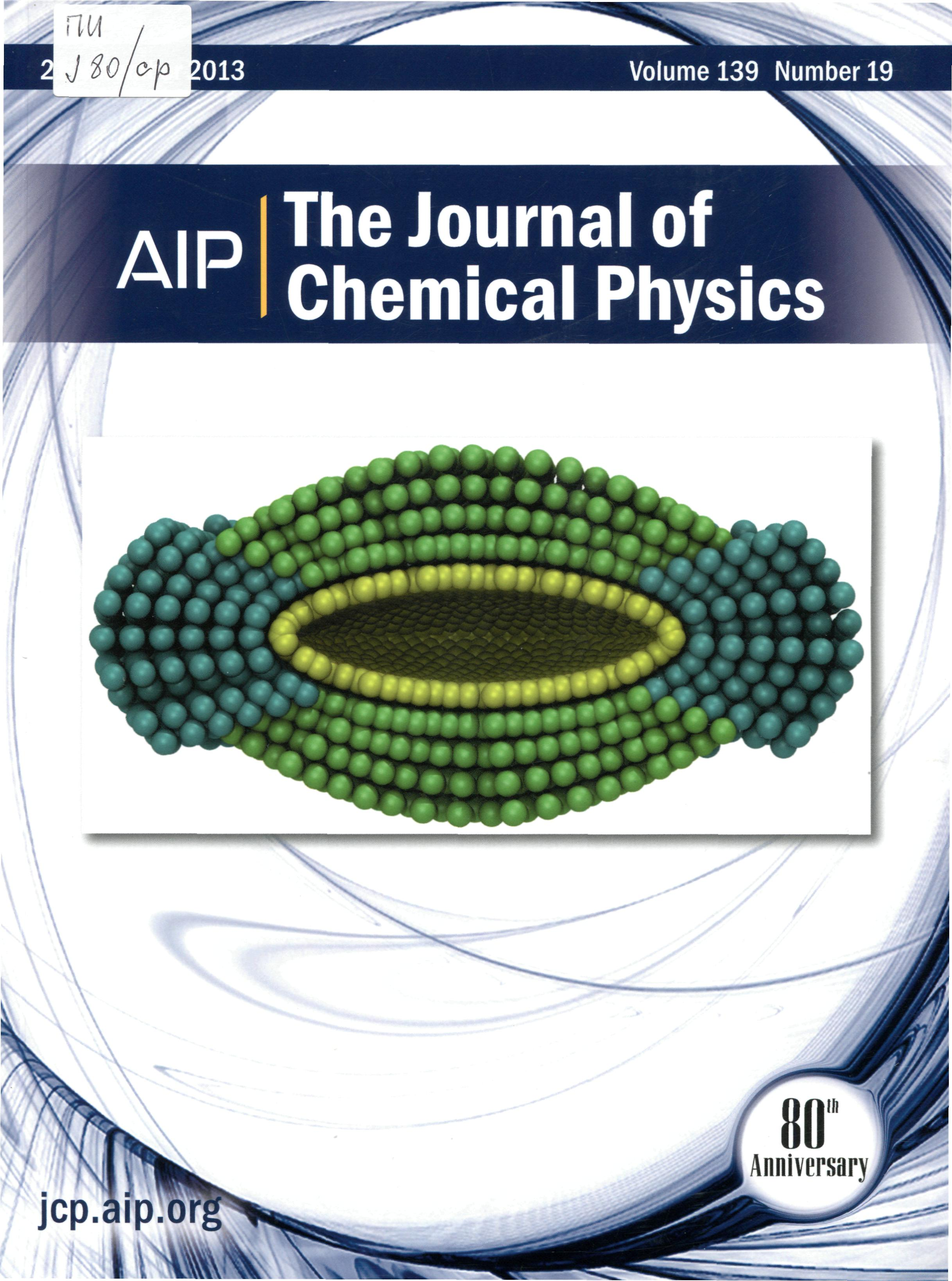 he journal of chemical physics 122 The open chemical physics journal, is an open access online journal which publishes research articles, reviews, letters and guest edited single topic issues in all areas of chemical physics.