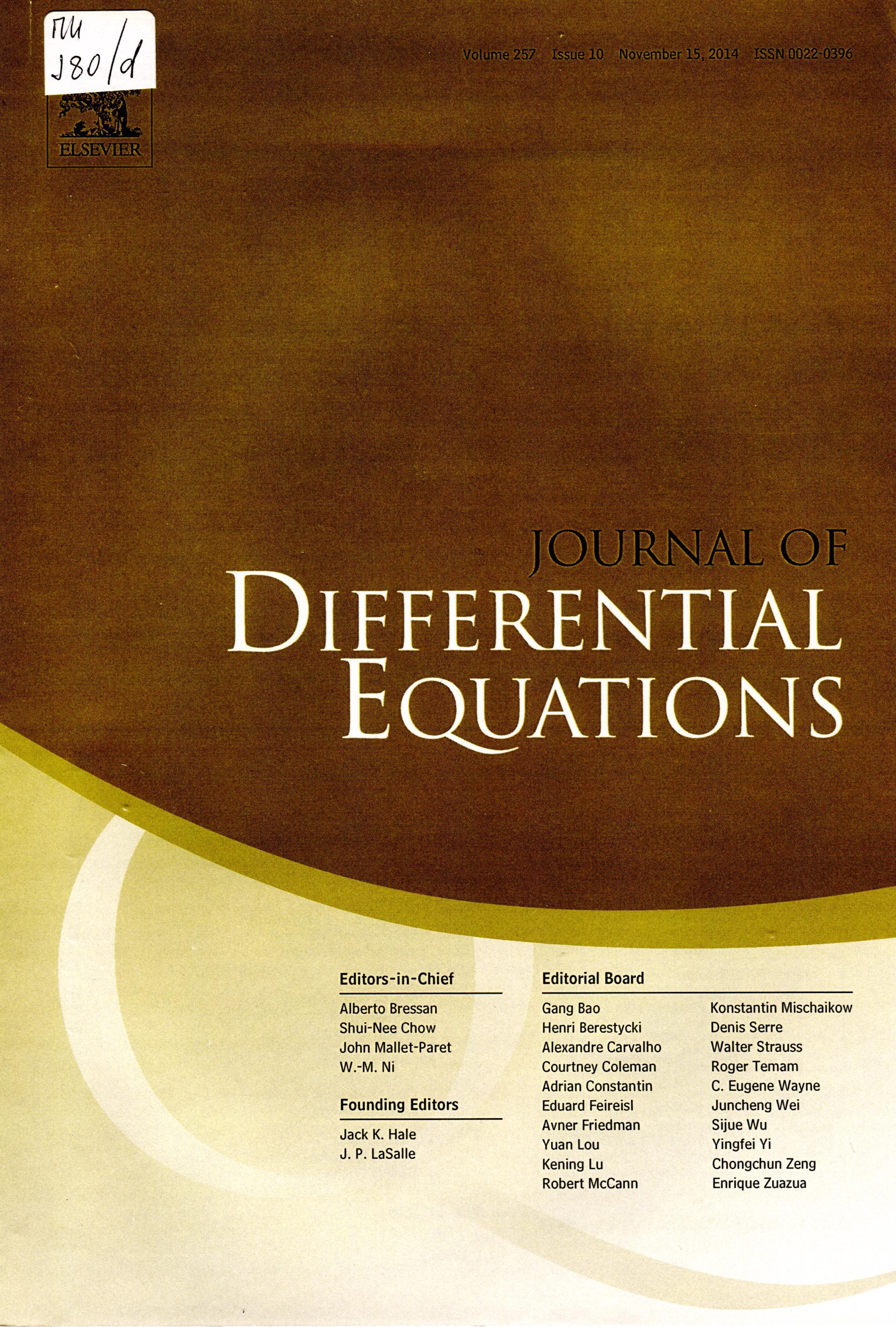 journal of differential equations pdf